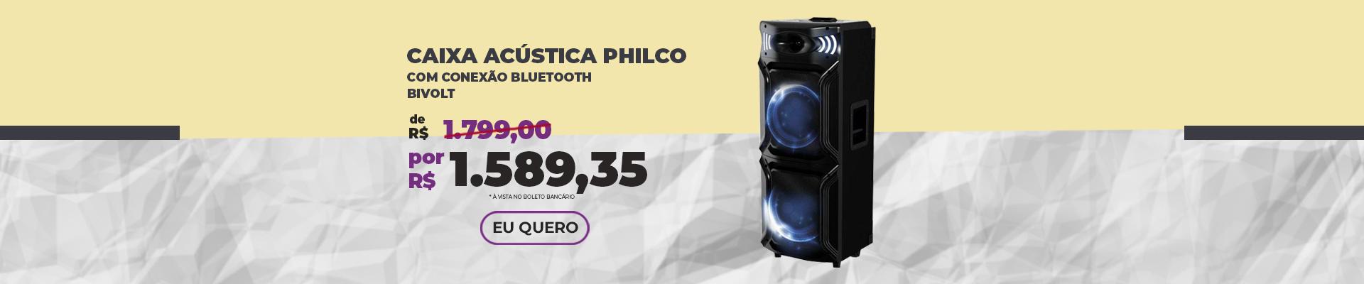 JANEIRO - Caixa de Som Philco